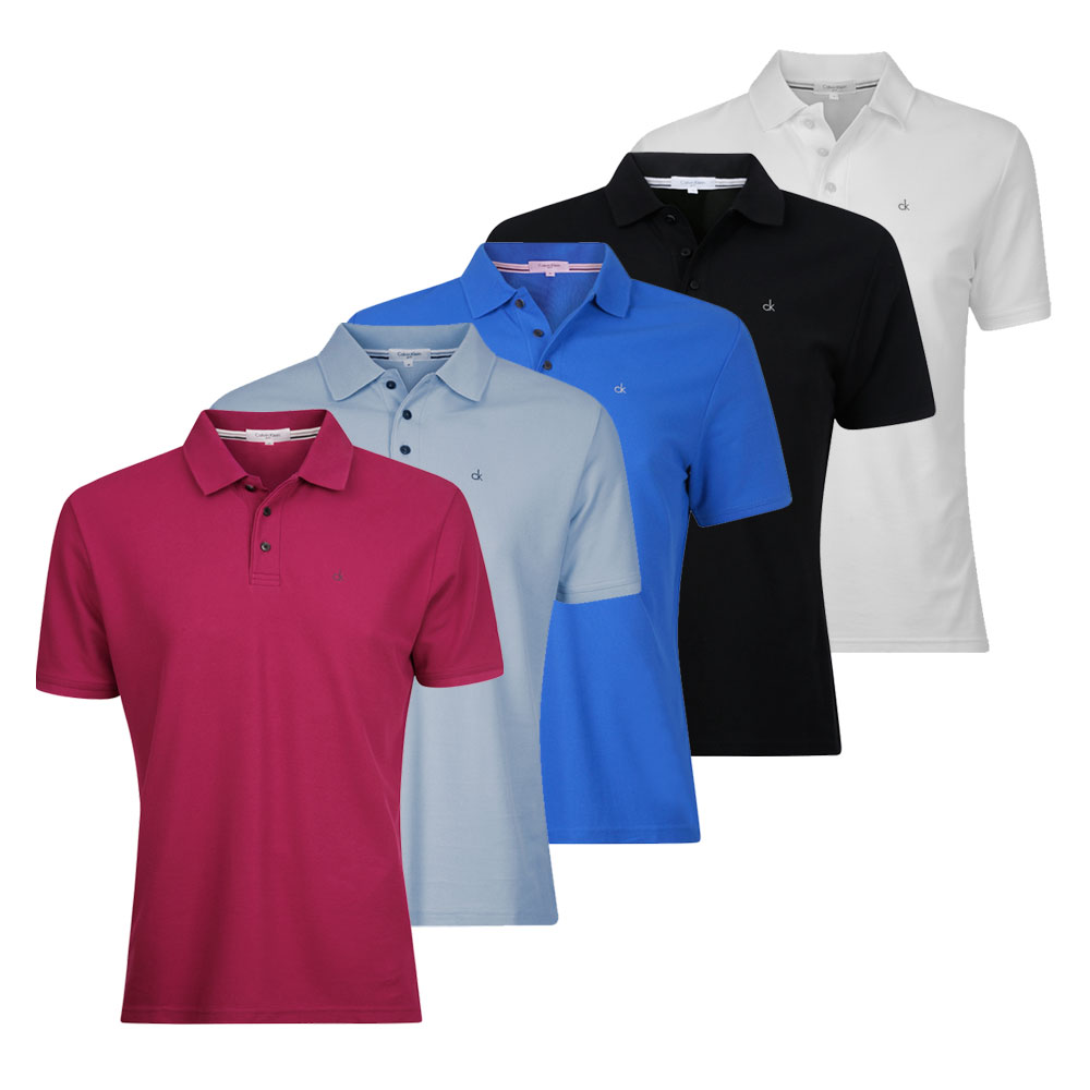 Calvin klein manhattan mens golf polo shirt c9101 ebay for Mens golf polo shirts