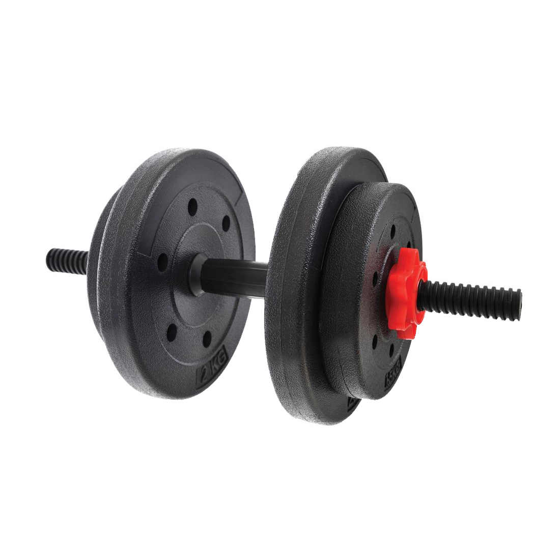 York 30kg Dumbbell Set: York Fitness Y Vinyl Dumbbell Set 15Kg
